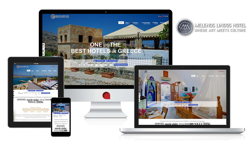 thewebempire case studies meledos lindos hotel responsive website